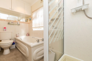 bathroom for pre-owned park home for sale on Burlingham Park Garstang